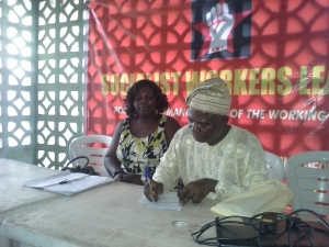 Kemi Afolayan, Chair, AUPCTRE NOA Branch Ibadan and Biodun Olamosu, during a session at the Convention