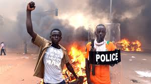 irate youth seized the streets during last year's uprising in Burkina Faso