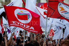 working people in Athens jubilate as Syriza's vitory is announced